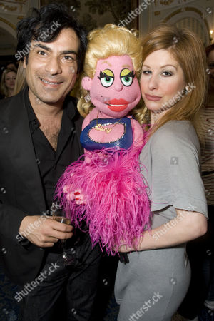 'Avenue Q' house warming party for their new home at Wyndham's Theatre, London - Deepak Verma and Cassidy Janson (Kate Monster/Lucy the Slut)