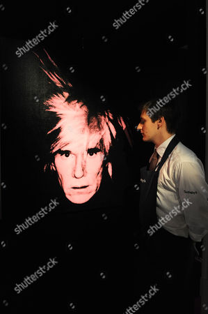Andy Warhol: Self port portrait Pink Fright Wig. Estimated sale value GBP 2,000,000-3000,000