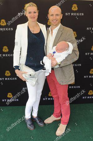 Matt Dawson, wife Carolin Hauskeller and new baby