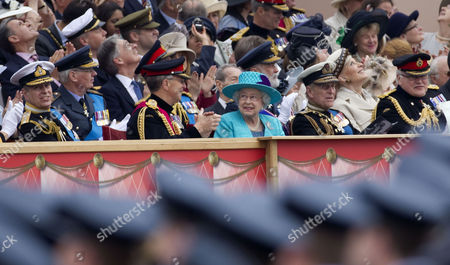 Prince Andrew, Chief of the Defence Staff Sir David Richards, Queen Elizabeth II and Prince Philip