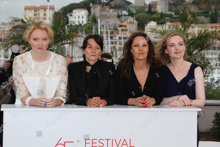 Lily Cole, Sylvie Verheyde, Karole Rocher and guest
