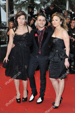 Mylene Jampanoi, Xavier Dolan and Suzanne Clement