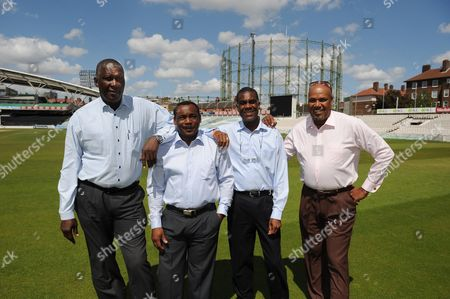 Fire And Babylon Film Launch L-r Joel Garner Gordon Greenidge Michael Holding And Colin Croft At The Oval cricket Feature The Oval.