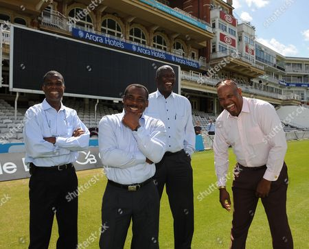Fire And Babylon Film Launch L-r Michael Holding Gordon Greenidge Joel Garner And Colin Croft At The Oval cricket Feature The Oval.