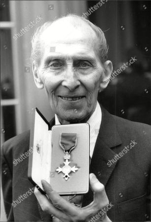 Actor Peter Cushing (died 8/94) With His Obe.