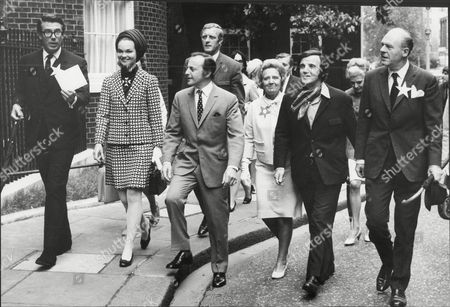 Celebrities Arriving At Downing Street. (from Left) Leslie Crowther The Marchioness Of Tavistock David Jacobs Dan Moss Maude Edwards Alan Freeman And John Horsley.