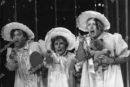 Rehearsals For The Royal Variety Performance At Theatre Royal 1985 The Royal Command Performance Russell Harty Jan Leeming And Michael Aspel