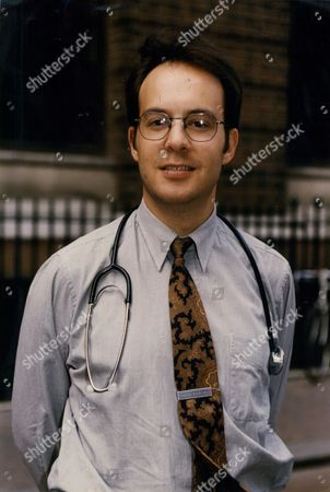 Editorial photo of Dr Simon Mellor At St Mary's Hospital In Paddington London.