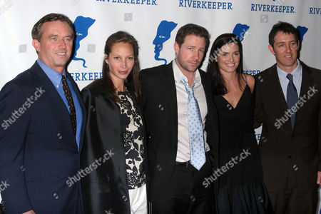 Robert F Kennedy Jr, Christy Turlington, Edward Burns, Mary Richardson Kennedy at the Riverkeeper Hosts a Gala Benefit Dinner Honoring Hearst Corporation at the Chelsea Piers.