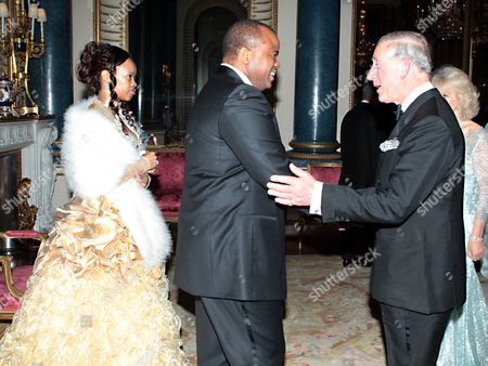 Editorial photo of Sovereign Monarchs Jubilee dinner at Buckingham Palace, London, Britain - 18 May 2012