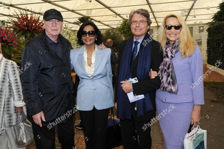 Michael and Shakira Caine with Jerry Hall and Warwick Hemsley