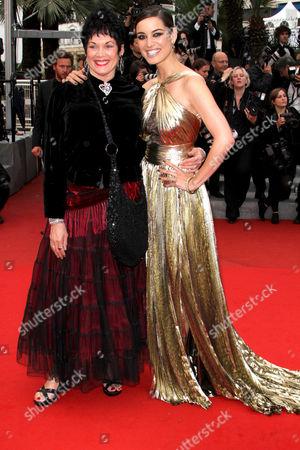 Martine Beswick and Berenice Marlohe