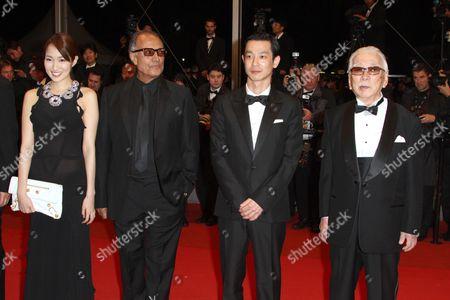Rin Takanashi, Abbas Kiarostami, Ryo Kase and Tadashi Okuno