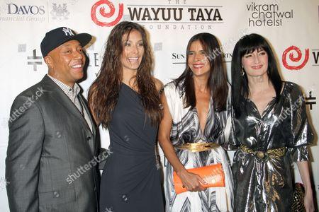 Russell Simmons, Patricia Velasquez, Dayana Mendoza and Cucu Diamantes