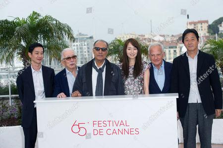 Actors Ryo Kase, Tadashi Okuno, director Abbas Kiarostami, Rin Takanashi, Marin Karmitz