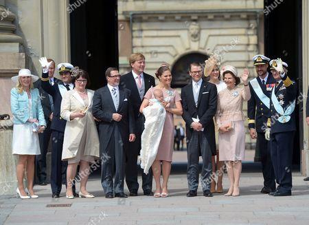 Anna Westling, Prince Carl Philip, Ewa Westling, Owe Westling, Crown Prince Willem-Alexander, Crown Princess Victoria, Princess Estelle, Prince Daniel, Crown Princess Mary, Queen Silvia, Crown Prince Haakon, King Carl Gustaf