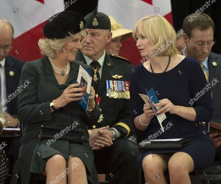 Stock Picture of Camilla Duchess of Cornwall and Laureen Harper