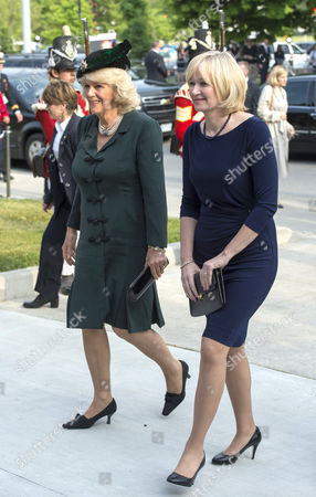 Camilla Duchess of Cornwall and Laureen Harper