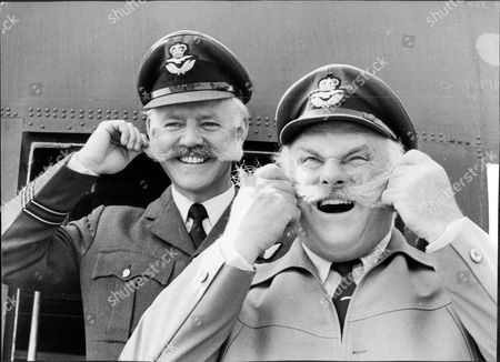 Actor And Comedian Jimmy Edwards With Ft Lt John Smith Jimmy Edwards Dfc (23 March 1920 A 7 July 1988) Was An English Comedic Script Writer And Comedy Actor On Both Radio And Television Best Known As Pa Glum In Take It From Here And As The Headmaster 'professor' James Edwards In Whack-o!