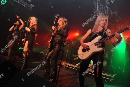 Anni De Vil Bitchie Satanica Rockzillapeople: (Left To Right) Anni De Vil Bitchie Satanica Rockzillaguitars: (Left To Right) Jackson Rhoads Ibanez Sr Bass Jackson San Dimas