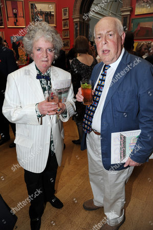Maggi Hambling and Clive Swift
