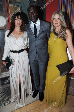 Stock Picture of Lisa B, Ozwald Boateng and Guest