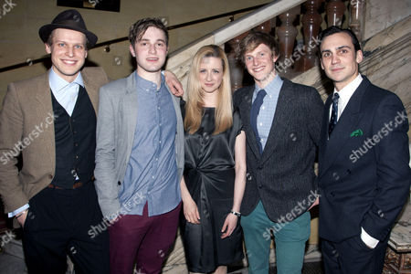 Max Bennett (Harry Villiers), Edward Killingback (Miles Richards), Laura Wade (Author), Harry Lister Smith (Ed Montgomery) and Henry Lloyd-Hughes (Dimitri Mitropoulos)