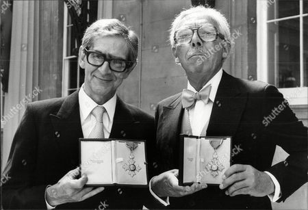 Television Presenter And Writer Frank Muir (right) And Dennis Norden After Their Investiture's Frank Herbert Muir (5 February 1920 A 2 January 1998) Was An English Comedy Writer Radio And Television Personality And Raconteur. His Writing And Performing Partnership With Denis Norden Endured For Most Of Their Careers. Together They Wrote Bbc Radio's Take It From Here For Over 10 Years And Then Appeared On Bbc Radio Quizzes My Word! And My Music For Another 35. Muir Became Assistant Head Of Light Entertainment At The Bbc In The 1960s And Was Then London Weekend Television's Founding Head Of Entertainment. His Many Writing Credits Include Editorship Of The Oxford Book Of Humorous Prose.