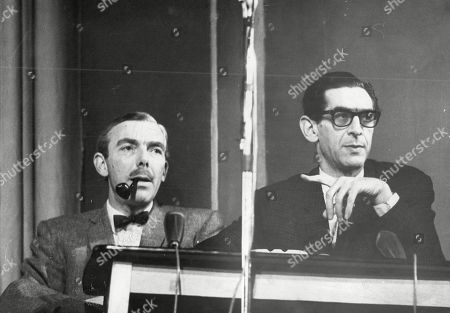 Television Presenter And Writer Frank Muir (right) And Scriptwriter Dennis Norden At Work On Radio Programme 'take It From Here' Frank Herbert Muir (5 February 1920 A 2 January 1998) Was An English Comedy Writer Radio And Television Personality And Raconteur. His Writing And Performing Partnership With Denis Norden Endured For Most Of Their Careers. Together They Wrote Bbc Radio's Take It From Here For Over 10 Years And Then Appeared On Bbc Radio Quizzes My Word! And My Music For Another 35. Muir Became Assistant Head Of Light Entertainment At The Bbc In The 1960s And Was Then London Weekend Television's Founding Head Of Entertainment. His Many Writing Credits Include Editorship Of The Oxford Book Of Humorous Prose.