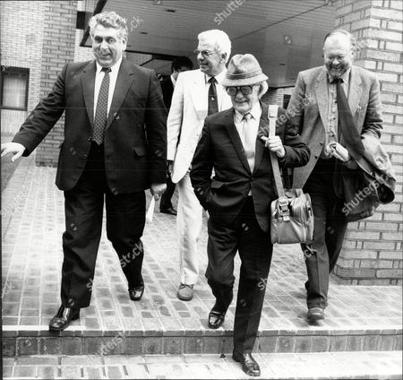 Actor Bill Owen (front) With Bary Cryer (back Centre) Leaving Southwark Crown Court William John Owen Rowbotham Mbe (14 March 1914 A 12 July 1999) Better Known As Bill Owen Was An English Actor And Songwriter. Born In London He Made His First Film Appearance In 1944 But Did Not Achieve Lasting Fame Until The 1970s When He Took The Starring Role Of Compo Simmonite In The Long-running British Sitcom Last Of The Summer Wine. Owen's Character Is A Scruffy Working Class Pensioner