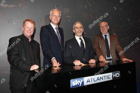 Brian Sullivan, Harald Schmidt, Charles Schreger (HBO) and Gary Davey