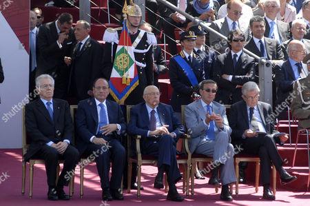 Prime Minister Mario Monti, President of Senate Renato Schifani, President of Italian Republic Giorgio Napolitano, President of chamber of deputies Gianfranco Fini, President of Constitutional Court Alfonso Quaranta