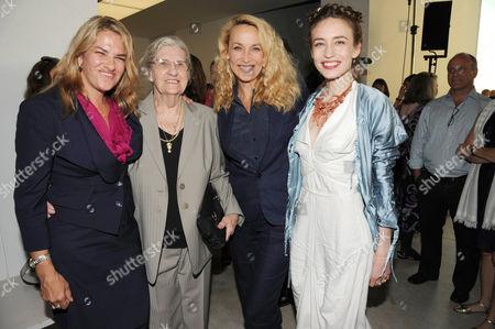 Stock Image of Tracey Emin, Pamela Cashin, Jerry Hall and Elizabeth Jagger