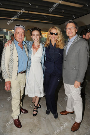 Nicky Haslam, Elizabeth Jagger, Jerry Hall and Warwick Hemsley