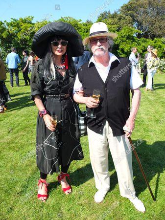Stock Image of Justin de Villeneuve and wife Sue Timney