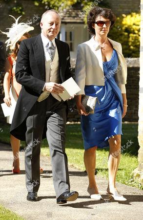 Shaun Woodward and wife Camilla.