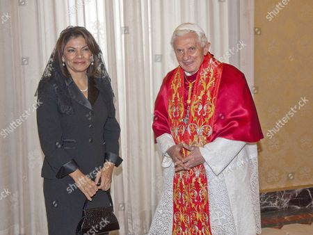 Laura Chinchilla, President of Costa Rica Republic and Pope Benedict XVI