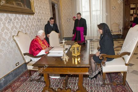 Pope Benedict XVI and Laura Chinchilla, President of Costa Rica Republic