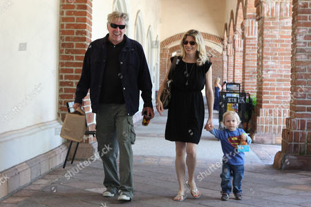 Gary Busey with partner Steffanie Sampson and son Luke