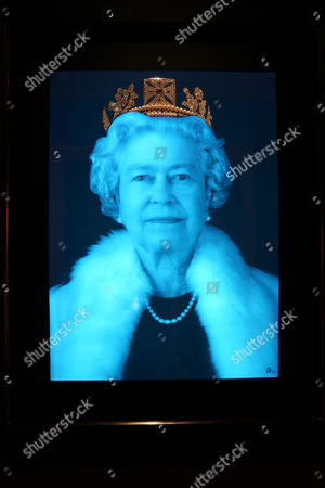 A work by artist Chris Levine depicting Queen Elizabeth II