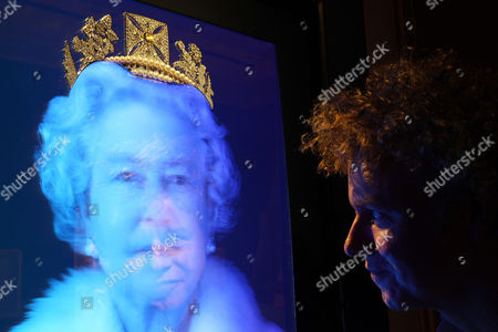 A work by artist Chris Levine depicting Queen Elizabeth II and Chris Levine