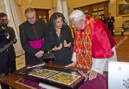 Laura Chinchilla and Pope Benedict XVI