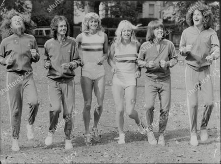 Editorial image of Slade training with athletes Donna Murray and Lesley Kiernan, Britain - 13 Sep 1974