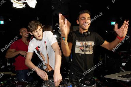 Stock Image of DJ Monroe, Jordan Postrel and Noah Becker