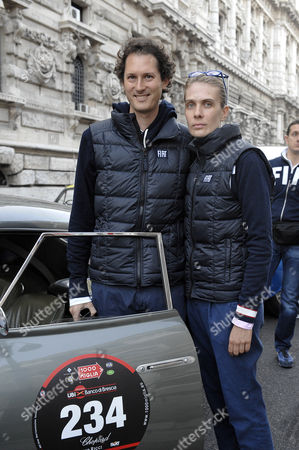 John Elkann and wife Lavinia Borromeo