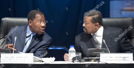 Benin President Boni Yayi and AU Chairperson Jean Ping