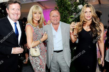 Piers Morgan, Gary Farrow and Celia Walden
