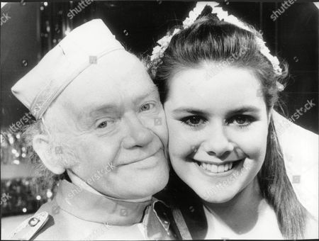 Actor And Comedian Charlie Drake (died 12/06) And His Teenage Cinderella 17-year-old Emma Harbour Appearing Together In Pantomime.