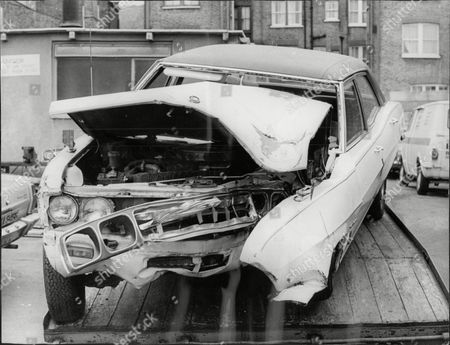 Wreckage Of Car Belonging To Comedian Ted Ray After A Crash In Which He Was Seriously Injured. He Was Found Guilty Of Drink-driving.