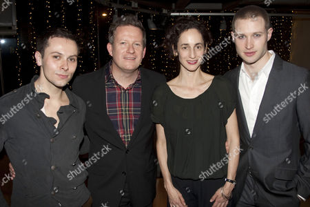 Christopher Marney (The Prince), Matthew Bourne (Director/Choreographer), Nina Goldman (The Queen) and Richard Winsor (The Swan)